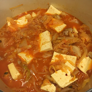 Kimchi Jigae with pork (kimchi stew)