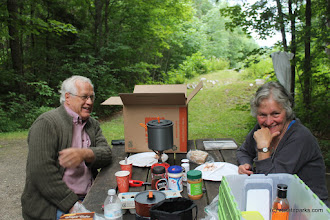 Photo: Couple enjoying a picnic lunch at Allis State Park by Alexa Collesides