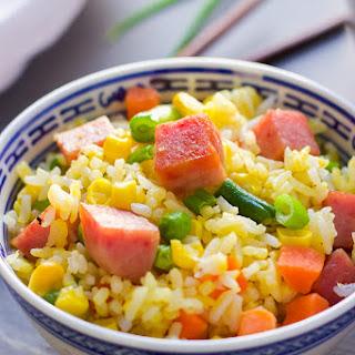 Tasty Spam Fried Rice.
