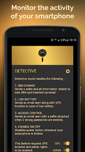 Anti-theft security and alarm system Screenshot