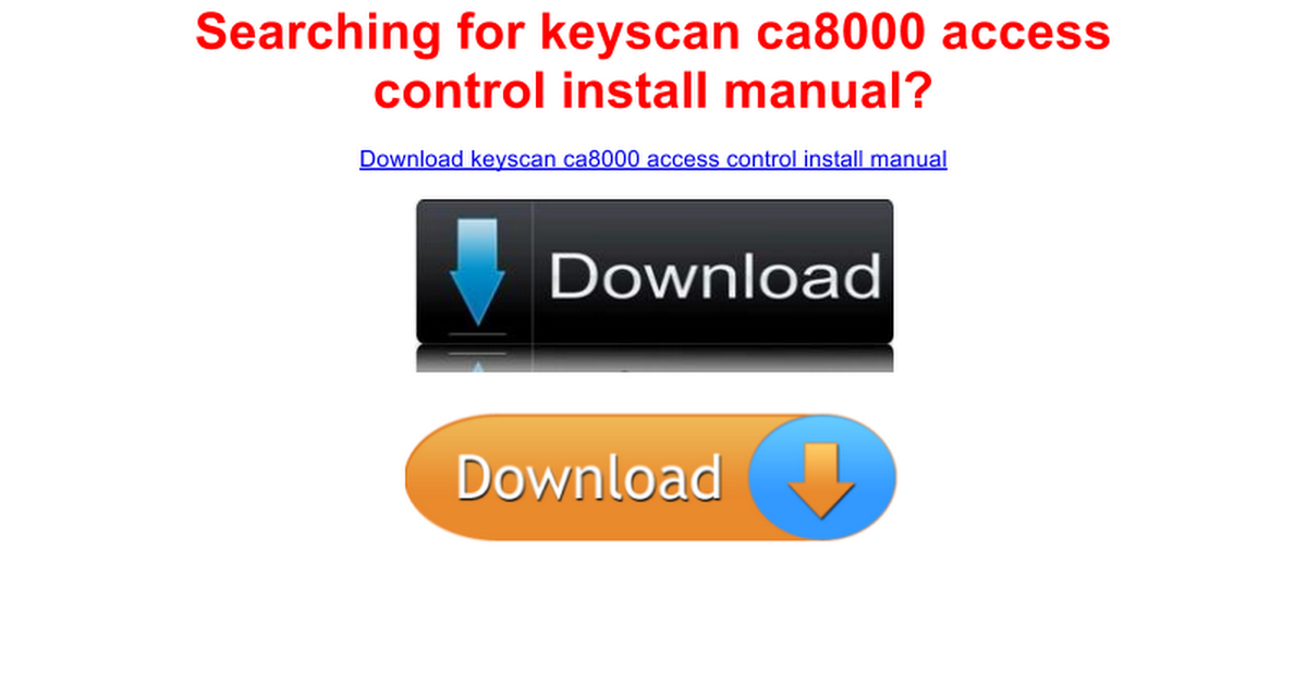 keyscan ca access control install manual google docs