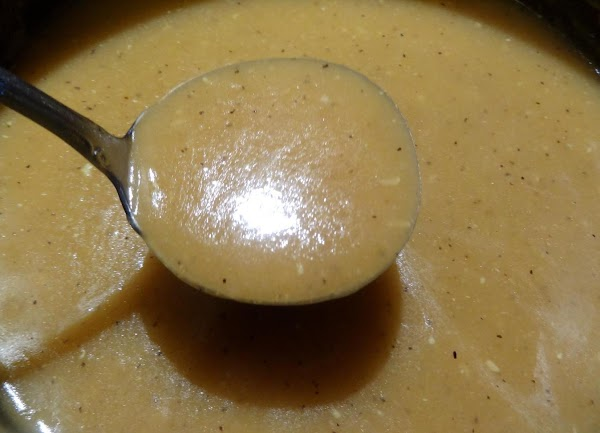 If your gravy is too thick, gradually add a tablespoon or two of water...