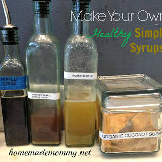 Healthy Simple Syrups.