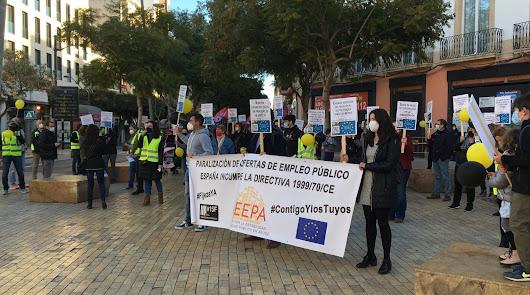 Interinos: veinte años esperando que se cumplan la ley de la Unión Europea
