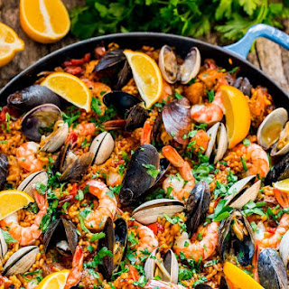 Chicken and Seafood Paella.