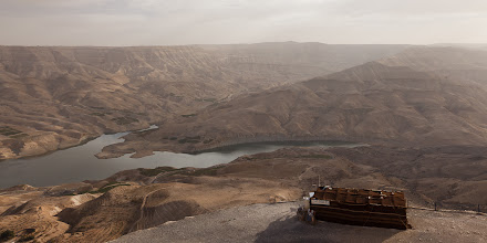 Photo: A dam was recently built at the bottom of Wadi Mujib that is threatening the slot canyons leading to the Dead Sea