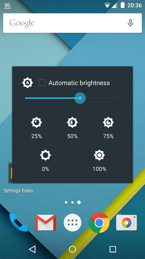 Settings Extended- screenshot