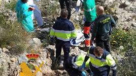 Operativo de rescate en Tabernas.