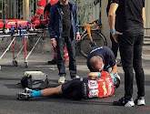 Mikel Landa zit opnieuw op de fiets na zijn crash in de Giro d'Italia