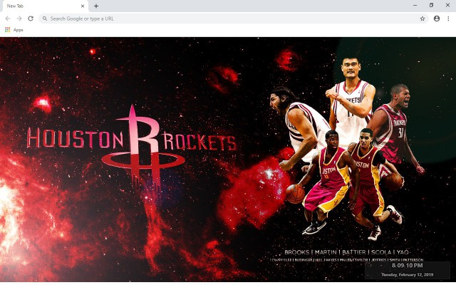 Houston Rockets NBA New Tab Theme