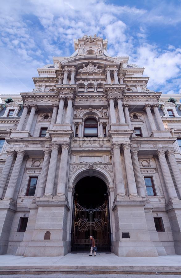 City Hall by Michael Sharp - Buildings & Architecture Architectural Detail ( city hall, pa, buildings, pennsylvania, philadelphia, united states, city )