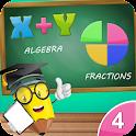 4th Grade Math-Algebra+Divide icon