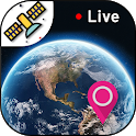 Live Earth Map HD-GPS Satellite & Live Street View icon