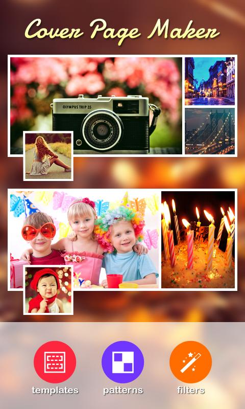 cover page maker screenshot - Photography Cover Page