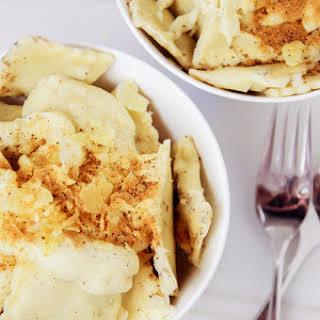 Twilight; Mushroom Ravioli in Creamy Besciamella Sauce.