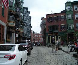 Photo: North End, Boston, with cobblestone streets (https://en.wikipedia.org/wiki/North_End,_Boston)