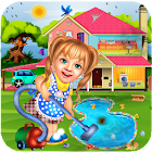 Sweet Baby Girl Cleaning Games 2018: House Cleanup icon