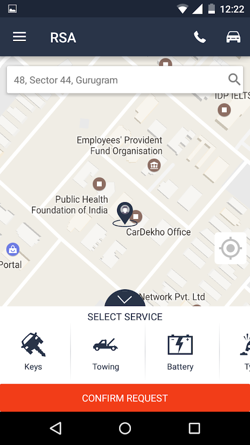 RSA CarDekho- screenshot