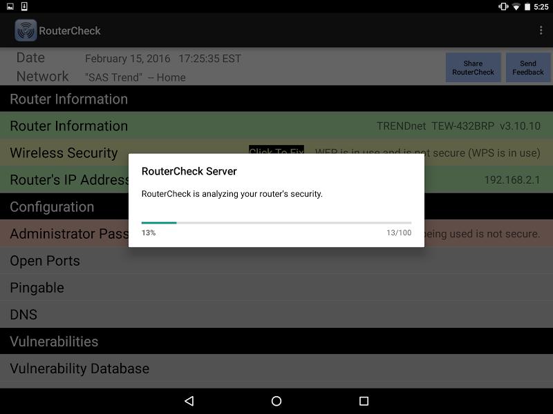 RouterCheck Screenshot 9
