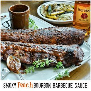 Smoky Peach Bourbon Barbecue Sauce