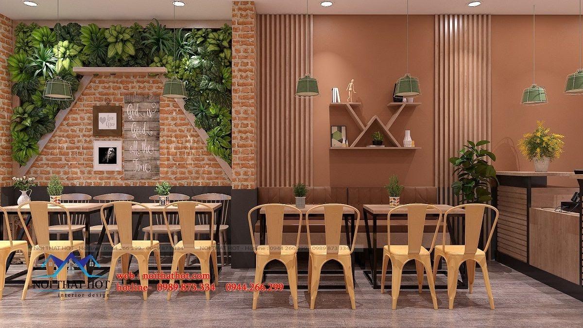 thiết kế cửa hàng pizza bau's 9