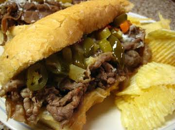 Crock Pot Po' Boys (or Italian Beef) Sandwiches