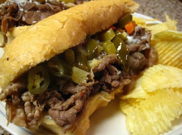 Crock Pot Po' Boys (or Italian Beef) Sandwiches