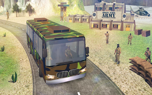 indian army bus driving: military truck mission 1.0 screenshots 9