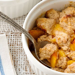 Brown Sugar Peach Cobbler for Two.