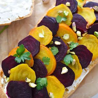 Beet, Blue Cheese & Pistachio Picnic Sandwich