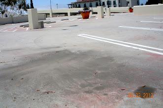Photo: Airborne Fallout Traffic Dust Upper Deck  Car Park Santa Barbara