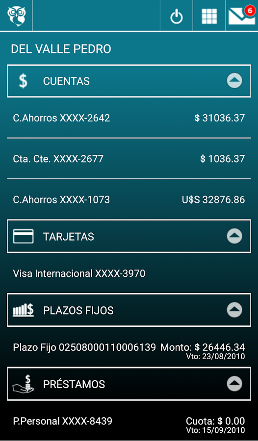 Banca Móvil Banco Hipotecario- screenshot