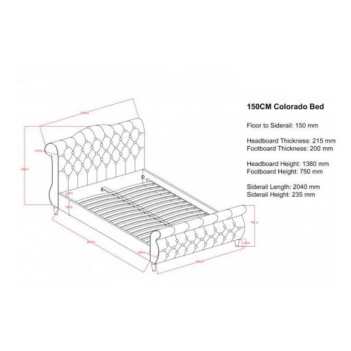 Birlea Colorado Bed Frame Grey