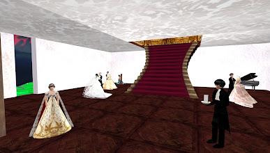 Photo: House of Alisha exhibit of a Victorian ball at SL9B =  http://maps.secondlife.com/secondlife/FruitIslands%20SL9B%20Party/86/137/22/?title=House%20of%20Alisha
