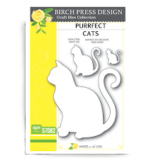 Birch Press Die - Purrfect Cats