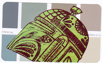 Photo: Wenchkin's Mail Art 366 - Day 127, card 127a