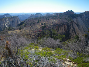 Photo: Looking towards Zion Canyon across a mesa surrounded by deeeeeep canyons.
