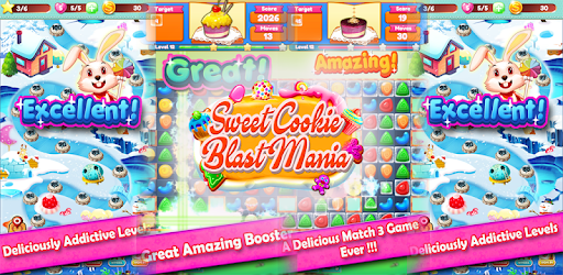 Sweet Cookie Blast Mania best delicious macth 3 puzzle game ever...