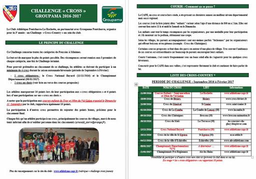 Challenge cross 2016-2017
