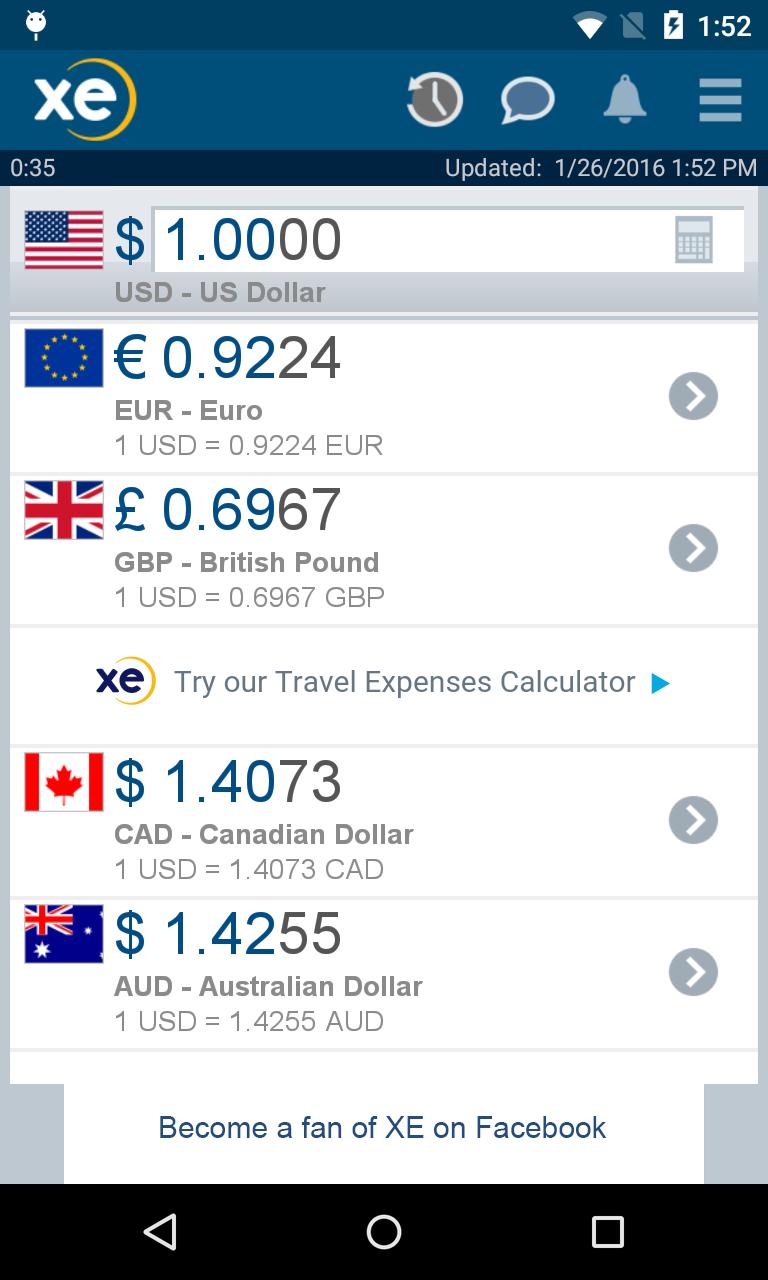 XE Currency screenshot #1
