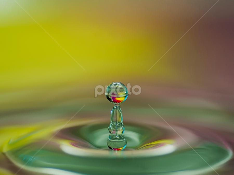 ... by Hale Yeşiloğlu - Abstract Water Drops & Splashes ( abstract, liquid, splash, waterdrop, abstract art, drop, liquid art, drops )