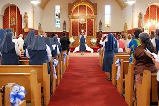 Photo: singing the Magnificat