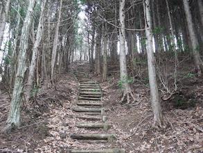 松ノ山への登り階段