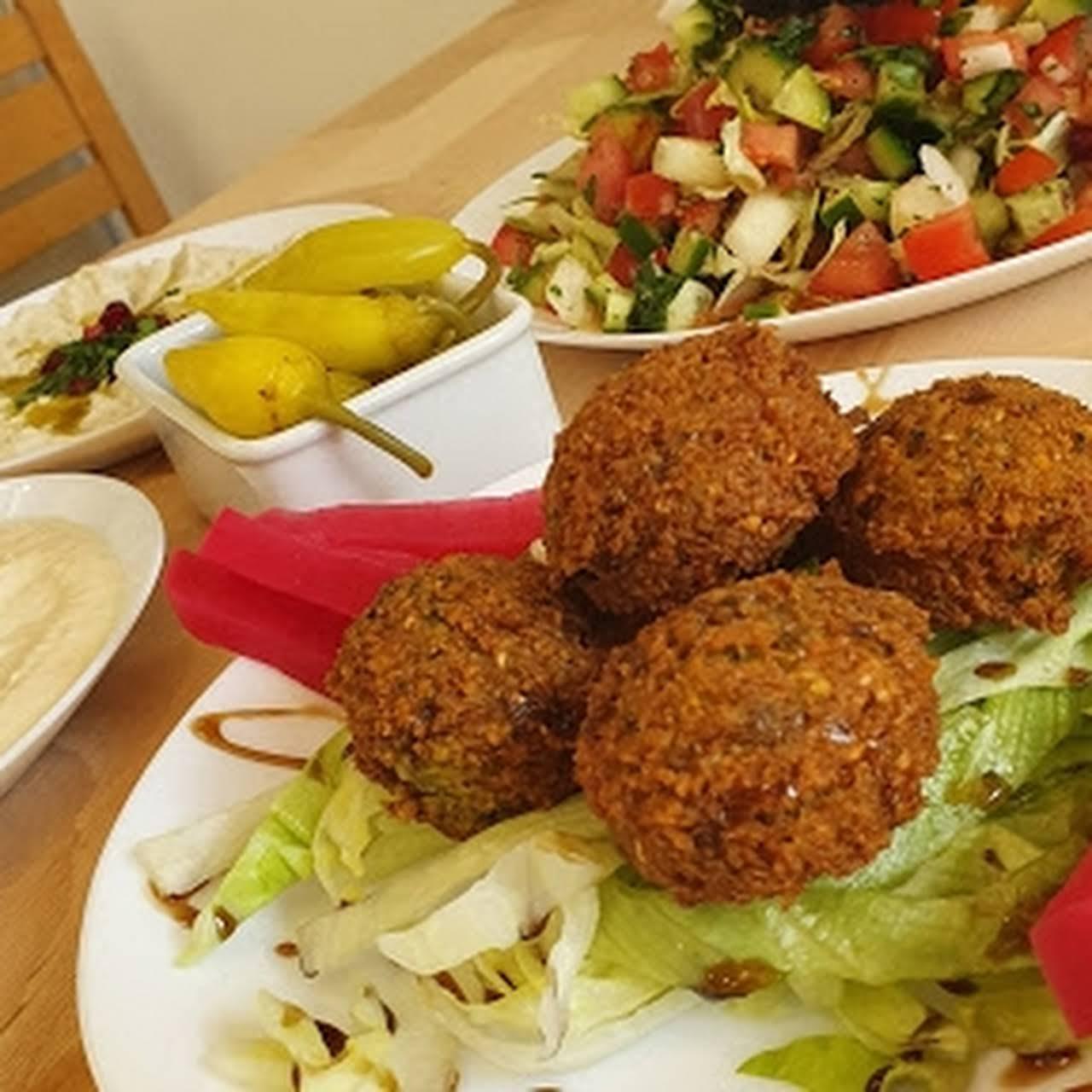 Falafel Full Hummus Vegan Wegetarianskie Pita Middle Eastern