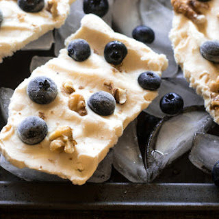 Easy Frozen Yogurt Bark with Blueberries and Walnuts