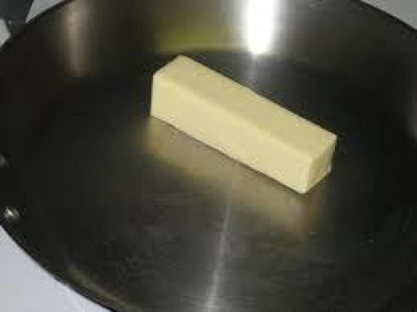 Preheat your oven to 350*...  Heat a sauce pan and add butter.  When butter...