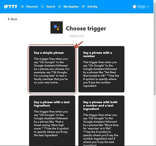 IFTTT this アプリ選択 機能選択