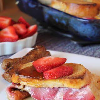 Baked Strawberries and Cream French Toast.