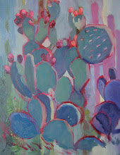 Photo: Backdoor Cactus, oil on canvas by Nancy Roberts, copyright 2014. Private collection.
