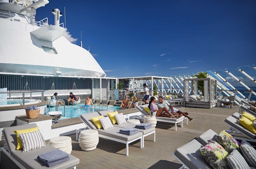 At the Retreat on your Celebrity sailing, you'll find a blissful oasis with a private pool, sun deck, butler service and an exclusive restaurant.